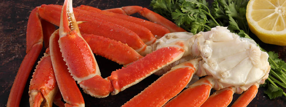 Crab Legs on a plate