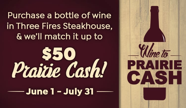 Wine To Prairie Cash
